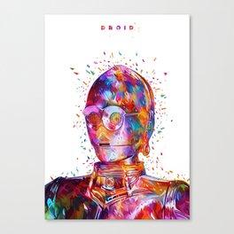 Droid White Canvas Print
