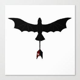 Black Toothless Canvas Print