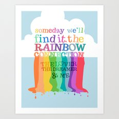 the rainbow connection.. the muppets Art Print
