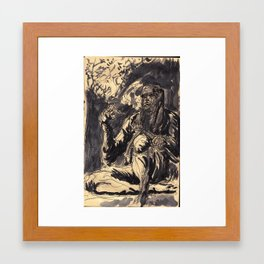 Ninja Chill Framed Art Print