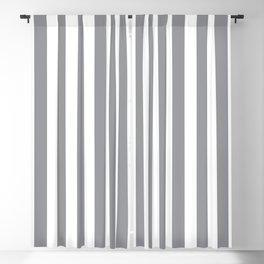 Vertical Grey Stripes Blackout Curtain