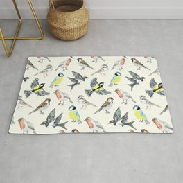 Illustrated Birds Rug