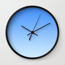 Sky Blue Gradient Wall Clock