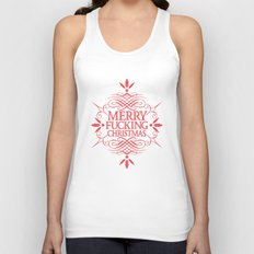 Merry Effin Christmas Unisex Tank Top