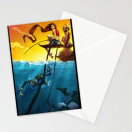 Sea Monkeys Stationery Cards