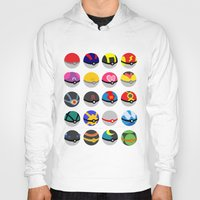 pokeball Hoodies featuring Pokeball by WSS3 The Paint Project