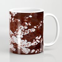 cherry blossoms Mugs featuring Cherry Blossoms by Paula Belle Flores
