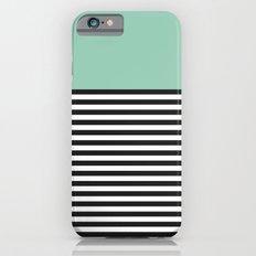 STRIPE COLORBLOCK {MUTED JADE} iPhone 6s Slim Case