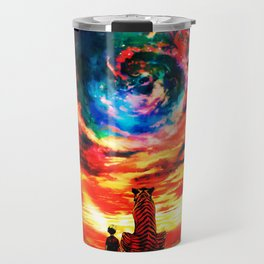 Calvin And Hobbes With Nebula Travel Mug
