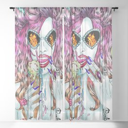 Untamed Shrew Sheer Curtain