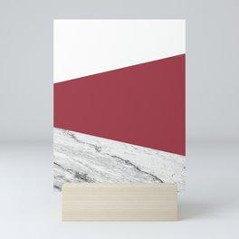 Marble Jester Red Geometry Mini Art Print