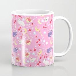 Sailor Moonie Kitties on Pink Coffee Mug