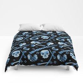 Dem Bones - Black Comforters