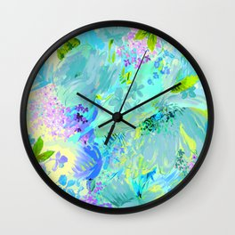 abstract floral Wall Clock