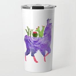 No Prob-Llama - Purple Llama and Cacti Travel Mug
