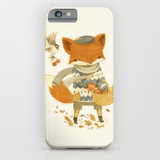 Fritz the Fruit-Foraging Fox iPhone & iPod Case
