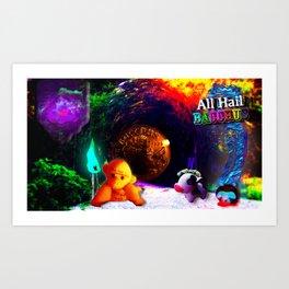 ALL HAIL BACCHUS Art Print