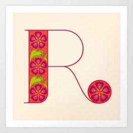 R - Amarilis Art Print