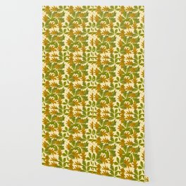 Leaves Camouflage Pattern Wallpaper