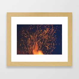Fire and Sparks Framed Art Print