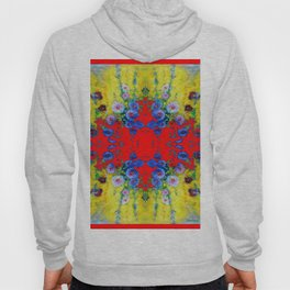 WESTERN YELLOW & RED GARDEN GOLD BLUE FLOWERS Hoody