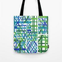 plaid Tote Bags featuring Plaid by Smiley's Dreamboat