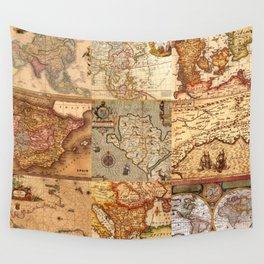 Old maps Wall Tapestry