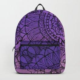 Purple Ombre Boho Mandala Backpack