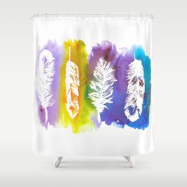 Ink & Feathers Shower Curtain