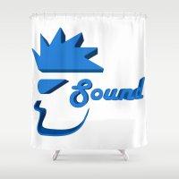 sound Shower Curtains featuring Sound by Zeep Design