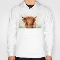 cow Hoodies featuring Cow by emegi