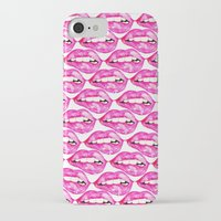 lip iPhone & iPod Cases featuring Lip Service by Talula Christian