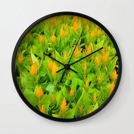 Field of Celosia Wall Clock