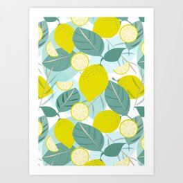 Lemons and Slices Art Print
