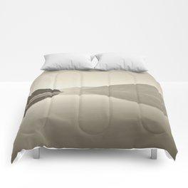 Minimal Monochrome Landscape Reflections Comforters