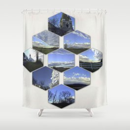 A Collage Of Winter In Frederick Maryland Shower Curtain