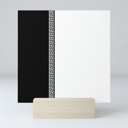 Greek Key 2 - White and Black Mini Art Print