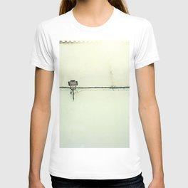 Retro white streetlight T-shirt
