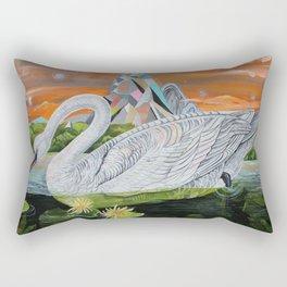 Swan Mountain Rectangular Pillow