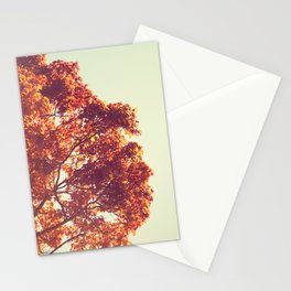 Retro Fall Tree Stationery Cards