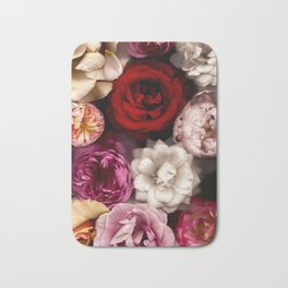 Pink, White, and Red Roses Bath Mat