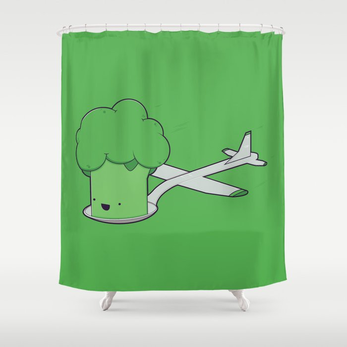 Here Comes The Airplane Shower Curtain