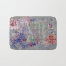 flower pattern color explosion Bath Mat