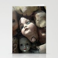 talking heads Stationery Cards featuring Heads by Stephen Maxwell
