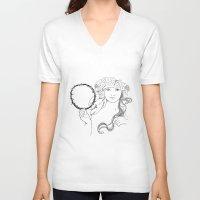 mucha V-neck T-shirts featuring A. Mucha by Daniel Cisneros