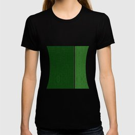 Two-tones Green Leather T-shirt