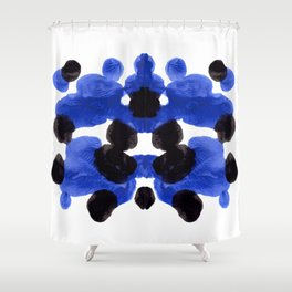 Periwinkle Purple Blue And Black Ink Blot Diagram Shower Curtain