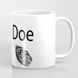 John Doe FIngerprint Coffee Mug