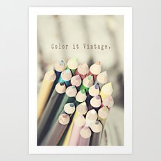 Color it Vintage Art Print