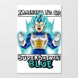 Training to go super saiyan blue - Vegeta Canvas Print